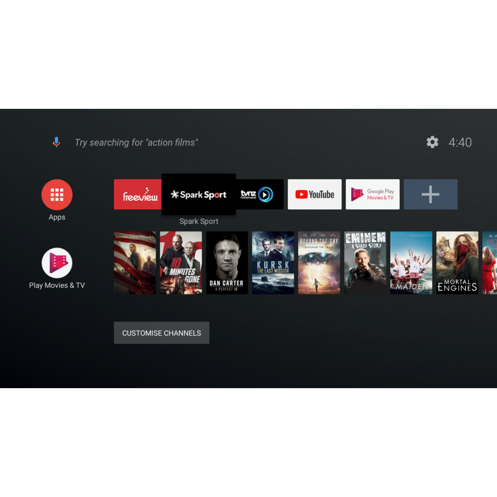 Freeview Dish Tv Recorder Android Tv Youtube And Download Apps
