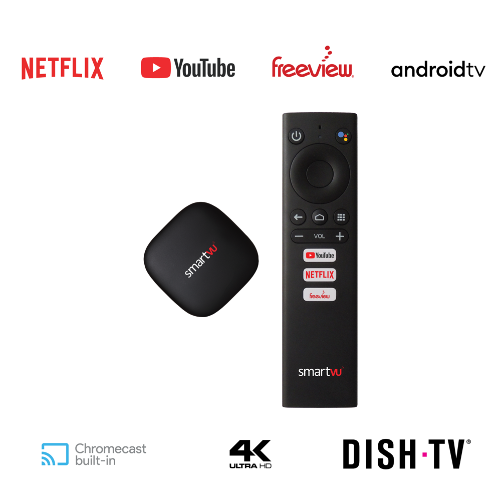 SmartVU X - Android TV, Freeview, Netflix, YouTube  Dongle