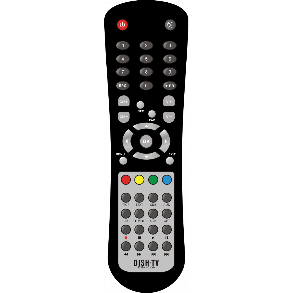 Remote Control for Dish TV S7070RHD