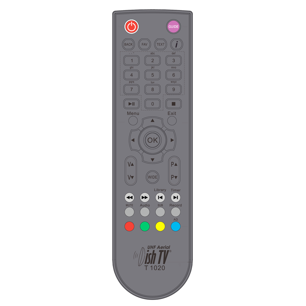 Remote Control for DishTV T1020
