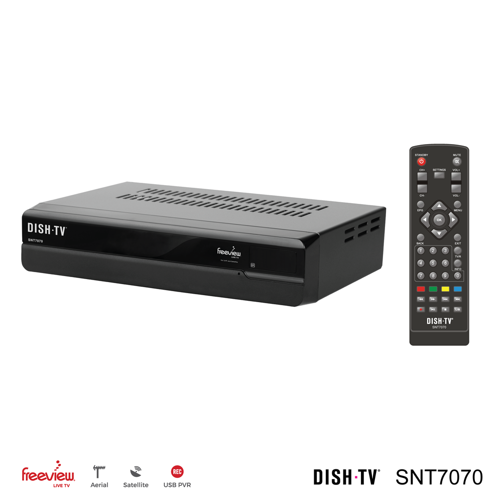 Dish TV SNT7070 Satellite & UHF Freeview Receiver